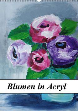 Blumen in Acryl (Wandkalender 2020 DIN A2 hoch) von Harmgart,  Sigrid