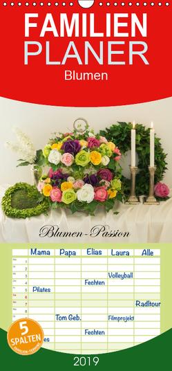 Blumen-Passion – Familienplaner hoch (Wandkalender 2019 , 21 cm x 45 cm, hoch) von Meyer,  Simone