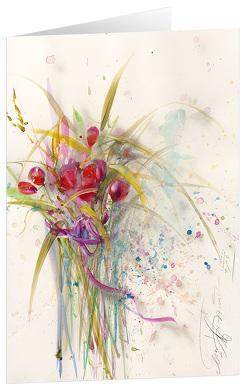Blumengruß – Kunst-Faltkarten ohne Text (5 Stück) von Münch,  Eberhard