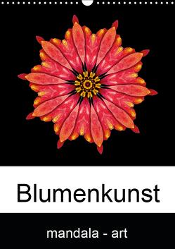 Blumenkunst – mandala-art (Wandkalender 2019 DIN A3 hoch) von Wurster,  Beate