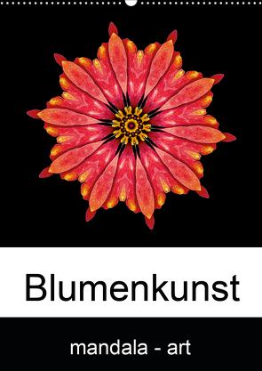 Blumenkunst – mandala-art (Wandkalender 2021 DIN A2 hoch) von Wurster,  Beate