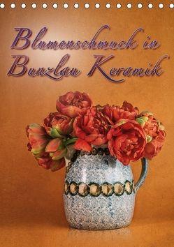 Blumenschmuck in Bunzlau Keramik (Tischkalender 2018 DIN A5 hoch) von Gödecke,  Dieter