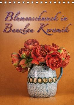 Blumenschmuck in Bunzlau Keramik (Tischkalender 2020 DIN A5 hoch) von Gödecke,  Dieter