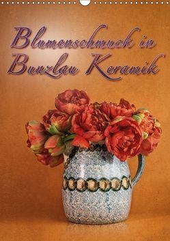Blumenschmuck in Bunzlau Keramik (Wandkalender 2018 DIN A3 hoch) von Gödecke,  Dieter