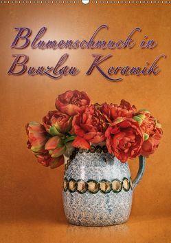 Blumenschmuck in Bunzlau Keramik (Wandkalender 2019 DIN A2 hoch) von Gödecke,  Dieter