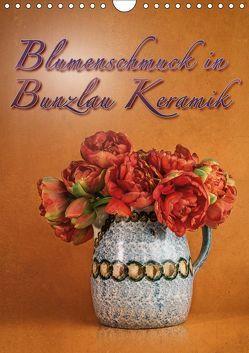 Blumenschmuck in Bunzlau Keramik (Wandkalender 2019 DIN A4 hoch) von Gödecke,  Dieter