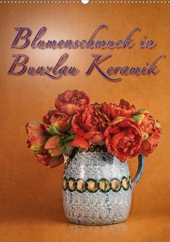 Blumenschmuck in Bunzlau Keramik (Wandkalender 2020 DIN A2 hoch) von Gödecke,  Dieter