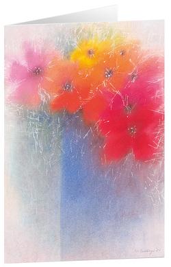 Blumenstrauß – Kunst-Faltkarten ohne Text (5 Stück) von Bahlinger,  Stefanie