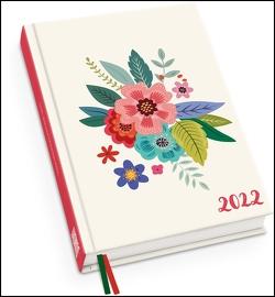 Blumenwiese Taschenkalender 2022 ‒ Blumen-Design ‒ Terminplaner mit Wochenkalendarium ‒ Format 11,3 x 16,3 cm