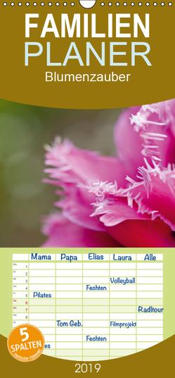 Blumenzauber – Familienplaner hoch (Wandkalender 2019 , 21 cm x 45 cm, hoch) von Steiner,  Ingrid
