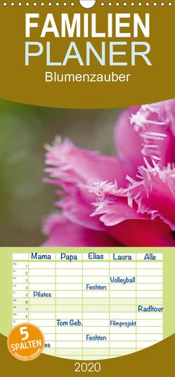 Blumenzauber – Familienplaner hoch (Wandkalender 2020 , 21 cm x 45 cm, hoch) von Steiner,  Ingrid