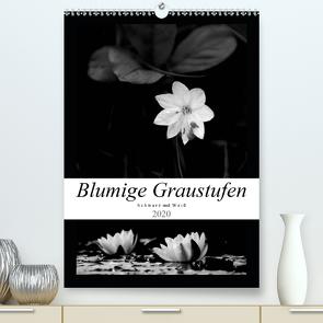 Blumige Graustufen – Schwarz und Weiß (Premium, hochwertiger DIN A2 Wandkalender 2020, Kunstdruck in Hochglanz) von Seidl,  Helene