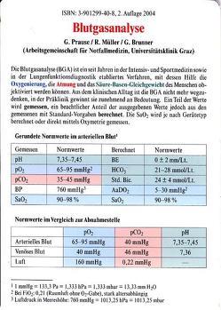 Blutgasanalyse von Brunner,  G., Müller,  Ralf, Prause,  Gerhard