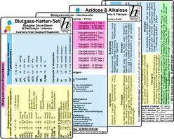 Blutgase-Karten-Set – Medizinische Taschen-Karte