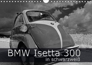 BMW Isetta 300 in schwarzweiß (Wandkalender 2018 DIN A4 quer) von Laue,  Ingo