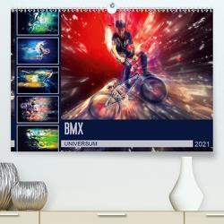 BMX Universum (Premium, hochwertiger DIN A2 Wandkalender 2021, Kunstdruck in Hochglanz) von Meutzner,  Dirk