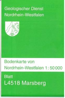 Bodenkarten von Nordrhein-Westfalen 1:50000 / Marsberg von Betz,  Hans Joachim, Dahm-Arens,  Hildegard