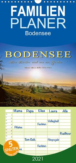"""Bodensee – """"Die Dörfer sind wie ein Garten …"""" (Rainer Maria Rilke) – Familienplaner hoch (Wandkalender 2021 , 21 cm x 45 cm, hoch) von Roder,  Peter"""