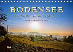 """Bodensee – """"Die Dörfer sind wie ein Garten …"""" (Rainer Maria Rilke) (Tischkalender 2020 DIN A5 quer) von Roder,  Peter"""