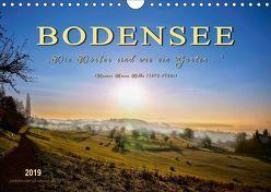 """Bodensee – """"Die Dörfer sind wie ein Garten …"""" (Rainer Maria Rilke) (Wandkalender 2019 DIN A4 quer)"""