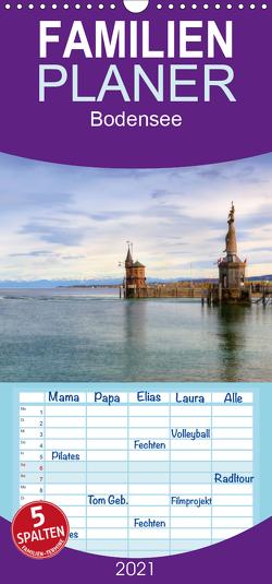 Bodensee – Familienplaner hoch (Wandkalender 2021 , 21 cm x 45 cm, hoch) von Kruse,  Joana