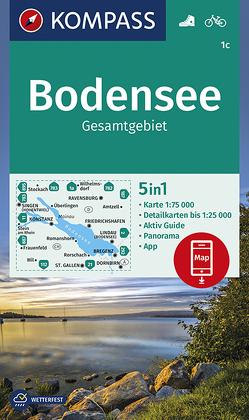 Bodensee Gesamtgebiet von KOMPASS-Karten GmbH