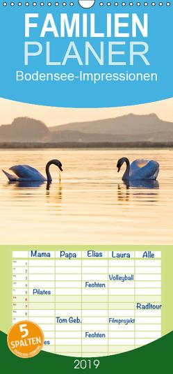 Bodensee-Impressionen 2019 – Familienplaner hoch (Wandkalender 2019 , 21 cm x 45 cm, hoch) von Jaenecke,  Sven