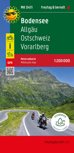 Bodensee, Motorradkarte 1:200.000, freytag & berndt