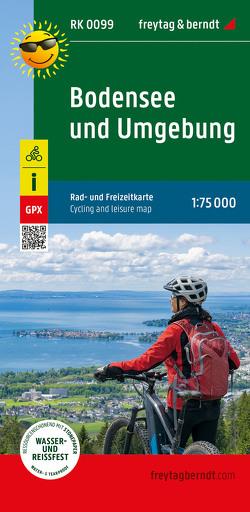 Bodensee und Umgebung, Radkarte 1:100.000
