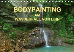 BODYPAINTING AM WASSERFALL VON LINN (Tischkalender 2019 DIN A5 quer) von & Romana Lara,  fru.ch