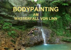 BODYPAINTING AM WASSERFALL VON LINN (Wandkalender 2019 DIN A3 quer) von & Romana Lara,  fru.ch