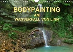 BODYPAINTING AM WASSERFALL VON LINN (Wandkalender 2019 DIN A4 quer) von & Romana Lara,  fru.ch