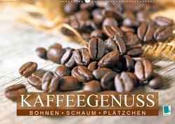 Bohnen, Schaum & Plätzchen: Kaffeegenuss (Premium, hochwertiger DIN A2 Wandkalender 2020, Kunstdruck in Hochglanz) von CALVENDO
