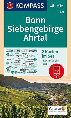 Bonn, Siebengebirge, Ahrtal von KOMPASS-Karten GmbH