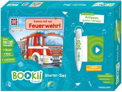 BOOKii® Starter-Set. WAS IST WAS Kindergarten. Unterwegs mit der Feuerwehr! von Lohr,  Stefan, Steinstraat,  Johann, Tessloff Verlag, Weller-Essers,  Andrea
