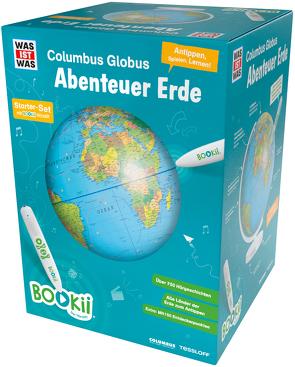 """BOOKii WAS IST WAS Columbus Globus """"Abenteuer Erde"""" von Baur,  Dr. Manfred, Saemann-Ischenko,  Robert"""