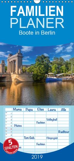 Boote in Berlin – Familienplaner hoch (Wandkalender 2019 , 21 cm x 45 cm, hoch) von Fotografie,  ReDi