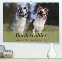 Bordercollies – Das Vierohr-Team unterwegs (Premium, hochwertiger DIN A2 Wandkalender 2020, Kunstdruck in Hochglanz) von Müller Hundefotowerk,  Beatrice