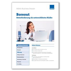 Boreout von Miller,  Brigitte, WEKA Business Media AG