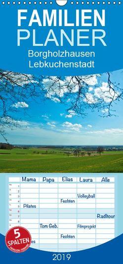 Borgholzhausen Lebkuchenstadt – Familienplaner hoch (Wandkalender 2019 , 21 cm x 45 cm, hoch) von J. Sülzner [[NJS-Photographie]],  Norbert