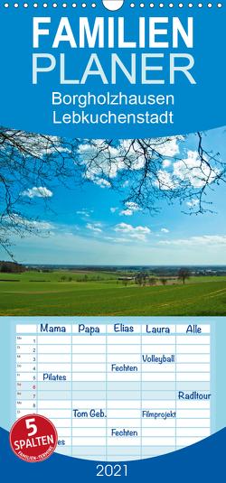 Borgholzhausen Lebkuchenstadt – Familienplaner hoch (Wandkalender 2021 , 21 cm x 45 cm, hoch) von J. Sülzner [[NJS-Photographie]],  Norbert