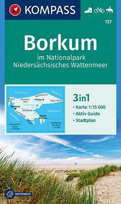 Borkum im Nationalpark Niedersächsisches Wattenmeer von KOMPASS-Karten GmbH