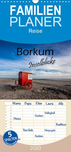 Borkum – Inselblicke – Familienplaner hoch (Wandkalender 2020 , 21 cm x 45 cm, hoch) von Dreegmeyer,  H.
