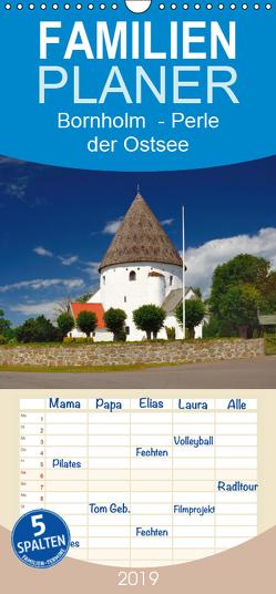 Bornholm – Perle der Ostsee – Familienplaner hoch (Wandkalender 2019 , 21 cm x 45 cm, hoch) von O. Wörl,  Kurt