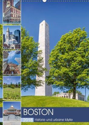 BOSTON Historie und urbane Idylle (Wandkalender 2018 DIN A2 hoch) von Viola,  Melanie