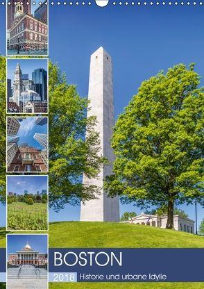 BOSTON Historie und urbane Idylle (Wandkalender 2018 DIN A3 hoch) von Viola,  Melanie