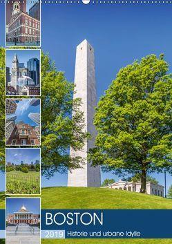 BOSTON Historie und urbane Idylle (Wandkalender 2019 DIN A2 hoch) von Viola,  Melanie