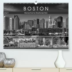 BOSTON Monochrome Stadtansichten (Premium, hochwertiger DIN A2 Wandkalender 2021, Kunstdruck in Hochglanz) von Viola,  Melanie