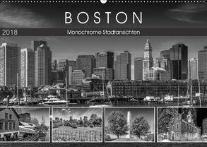 BOSTON Monochrome Stadtansichten (Wandkalender 2018 DIN A2 quer) von Viola,  Melanie