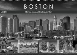 BOSTON Monochrome Stadtansichten (Wandkalender 2019 DIN A2 quer) von Viola,  Melanie